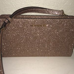Rose gold glitter Michael Kors crossbody